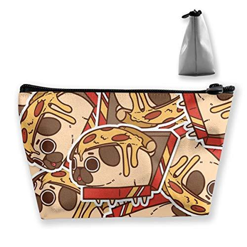 Pug Pizza1 Tixing Kosmetiktasche Reise Kosmetiktaschen Etui Stift Vertical Slim Case