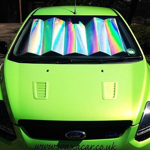 scheibenabdeckung pliable pour la vitre avant intérieur, protection et refroidissement, réfléchissants et d'écran, contre les rayons UV, solaire et laser, 145cm x 80cm Argenté