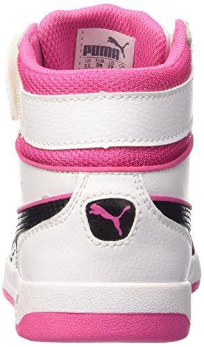 Puma Liza Mid, Mädchen Hohe Sneakers Bianco (White/Black/Carmine Rose)