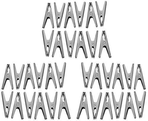 Sakshi Enterprises Stainless Steel Clothes Peg (1 cm x 3 cm x 6.5 cm, Silver, Pack of 36)
