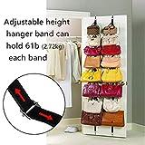 Mcottage 1 Paar Ofen Tür Hänger Hut Tasche Kleider Garderobe Halter Organizer Verstellbare Riemen Hänger