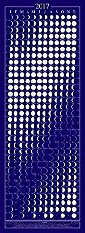Equinox 2017 Moon Phase Calendar - Beautifully Silk Screened, Packed with Lunar & Solar Data & Mercury Retrogrades …