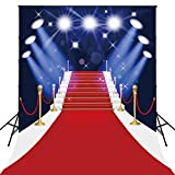 150x200cm AlgodóN Lavable Alfombra de PoliéSter Rojo Con Spotlight FotografíA de Evento TelóN de Fondo Para El Hogar Hollywood Party Pictures D-4123