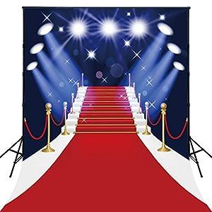 publicidad para eventos: 150x200cm AlgodóN Lavable Alfombra de PoliéSter Rojo Con Spotlight FotografíA de...