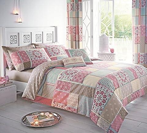 Dreams & Drapes Shantar Kissenbezüge, Blau, Pink, Single Cover Set (Ge Quilt Designs)