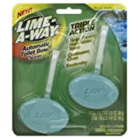 Lime-A-Way Automatic Toilet Bowl Cleaner, Fresh Waters, 2 Count