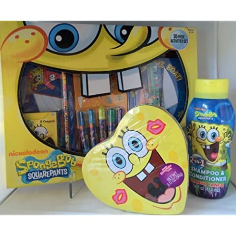 Sponge Bob Creative Activity Play Set Includes: 30 Piece Activity