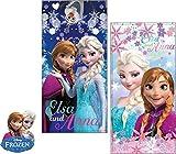Disney die Eiskönigin Strandtuch Badetuch mit Anna und Elsa - 70x140cm (100% Baumwolle)