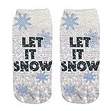 Junjie Casual Socks Cute Low Cut Ankle Socks Unisex Weihnachten lustige 3D-Mode gedruckt Casual Socken Cute Low Cut Söckchen Sport