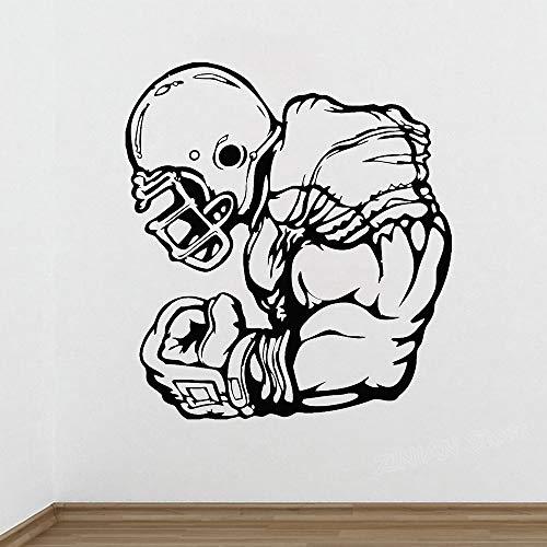 NCAA Football Player Poster Wandaufkleber Athlet Sport Spiel Rugby Vinyl Aufkleber Abziehbilder Wohnkultur Schlafzimmer Wohnzimmer Wandbilder 56 X 61 cm - Spiele Ncaa