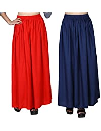 Comfort Fit Maxi Skirts for Women, Girls combo 02 by Dada Shopy