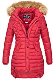 Navahoo Damen Winter Jacke Steppjacke Mantel Parka warm gefüttert gesteppt B640-Taube [B640-Taube-Rot-Gr.XS]