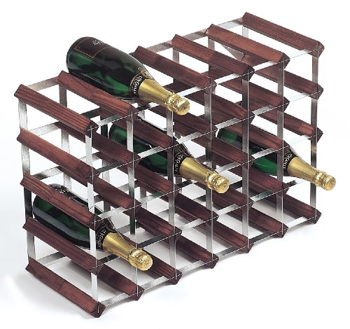 Rta From Samuel Groves Weinregal für 30 Flaschen 6x4 Fächer gebeizte Kiefer/verzinkter Stahl