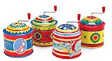 Schylling SC-TMB Tin Music Boxes That Play a Traditional Song When the Handle is Turned