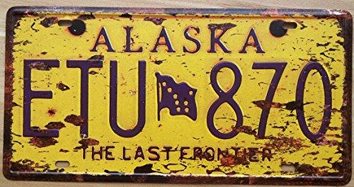 Vintage segno di stagno ALASKA ETU870 Targa pittura ferro retrò antica placca parete decorazione bar caffetteria ristorante pub piastra