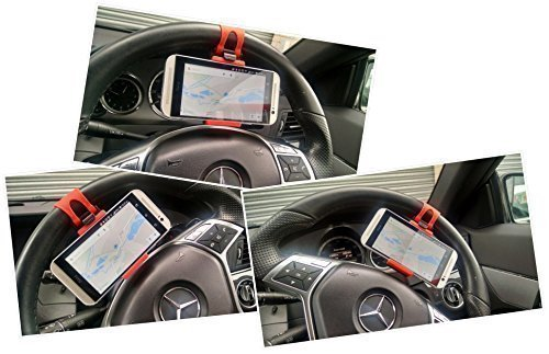 Ga Gadget - Car Steering Wheel Mobile Cell Phone PDA Holder Mount - Universal design suitable for most devices
