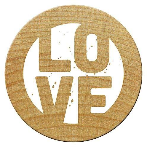 Woodies Mini Stempel Love, Holz, 1,5x 1,5x 3cm -
