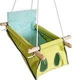 Hängebettchen aus Baumwolle von Petite planète Zébul'hamac Babybettchen Hängeschaukel (grün/dunkelgrün)