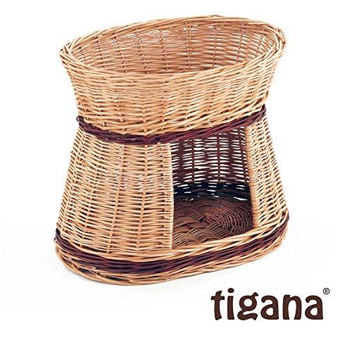 Tigana - Katzenturm mit Schlafplatz + Höhle aus Weide oval 2F