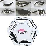 1pc 6en 1Beauty Cat Eyeliner plantilla Smoky Eye modelos plantilla Shaper herramienta de maquillaje