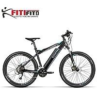 Fitifito MT27,5 Plus Elektrofahrrad Alpen Mountainbike E-Bike Pedelec 36V 14.5Ah 522W Samsung Cells Lithium-Ionen USB, 36V 250W Heckmotor, 27 Gang Shimano Schaltung, Hydraulische Scheibenbremse