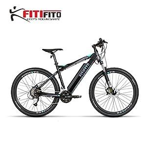 Fitifito MT27,5 Plus Alpen Elektrofahrrad Mountainbike E-Bike Pedelec 36V 14.5Ah 522W Samsung Cells Lithium-Ionen USB , 36V 250W Heckmotor, 27 Gang Shimano Schaltung, Hydraulische Scheibenbremse