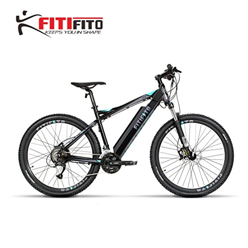 Fitifito MT27,5 Plus Alpen Elektrofahrrad Mountainbike E-Bike Pedelec 36V 14.5Ah 522W Samsung Cells Lithium-Ionen USB, 36V 250W Heckmotor, 27 Gang Shimano Schaltung, Hydraulische Scheibenbremse