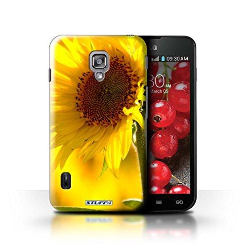 Kobalt® Imprimé Etui / Coque pour LG Optimus L7 II Dual / Champs de fleurs conception / Série floral Fleurs Fleur jaune