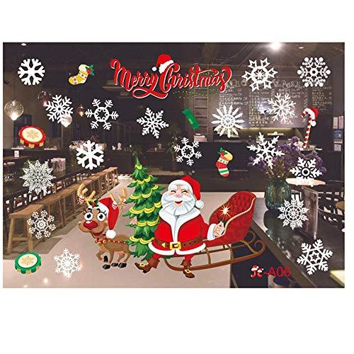 Junjie Nenu Christmas Wandaufkleber, Restaurant Mall Dekoration Schnee -