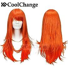 CoolChange peluca de Nami de la serie One Piece después de la separación del equipaje Piratas Sombreros de Paja, naranja