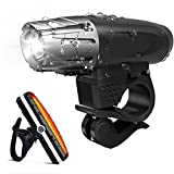 Bike Light, Osup Bike Lights Set- Premium LED Bicycle Headlight and Taillight Set - Waterproof Bicycle Light Accessories Set For Road & Mountain Cycling