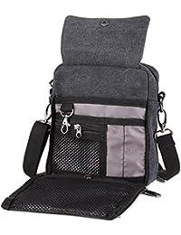 Koolertron Vintage Canvas Multifunction Crossbody Shoulder Bag Men's Lightweight Small Satchel Bag Waist Bag (...