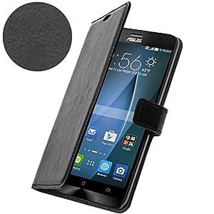 Housse, Etui Portefeuille - Noir pour Asus Zenfone 2 Deluxe ZE551ML