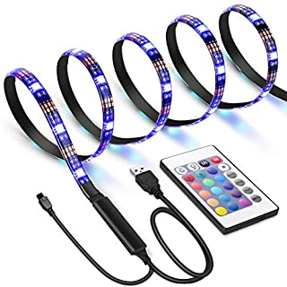 Criacr TV Back Light, 1 M USB LED Strip Light with 30 LED, 16 Colors, 4 Lighting Modes, Versatile Remote Control, USB Bias Lighting Kits for 24-42 Inch HDTV, PC Monitor, Flat Screen TV