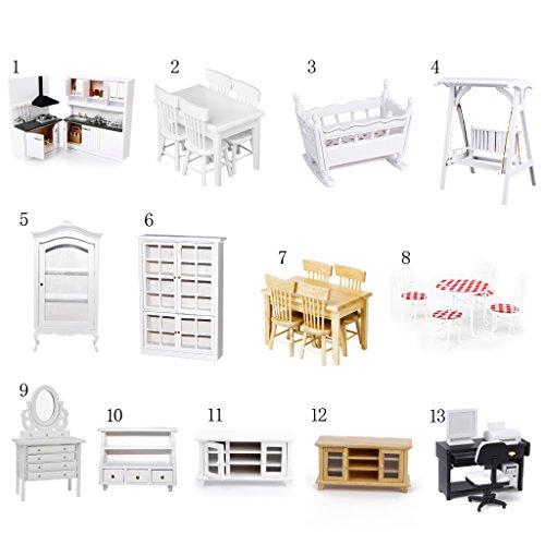 Sharplace Set di Cucina Giocattoli Scala 1:12 Mini Casa delle Bambole Mobili Kitchen Set