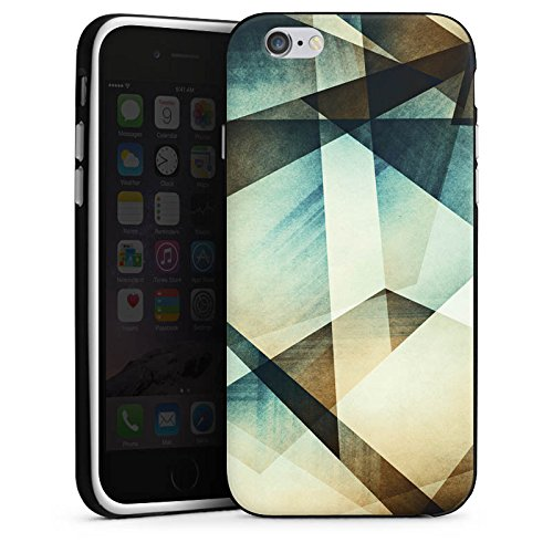 Apple iPhone X Silikon Hülle Case Schutzhülle Muster Grafisch Grün Silikon Case schwarz / weiß