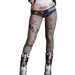 """Medias de red Harley Quinn Disfraz para Mujer Chica Carnaval Halloween Cosplay Suicide Squad Película Idea Regalo"""","""