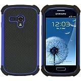 kwmobile Hülle für Samsung Galaxy S3 Mini i8190 - Hybridhülle Dual Case Handy Schutzhülle TPU Silikon - Hybrid Cover Blau Schwarz