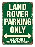 Land Rover Parking Only GREEN Metal Wall Sign Plaque 4x4 Offroad Garage