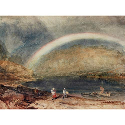 Turner The Rainbow Osterspai and Filsen Large Art Print Poster Wall Decor Premium Mural Regen Große Kunst Wand Deko - Rainbow Fine Art