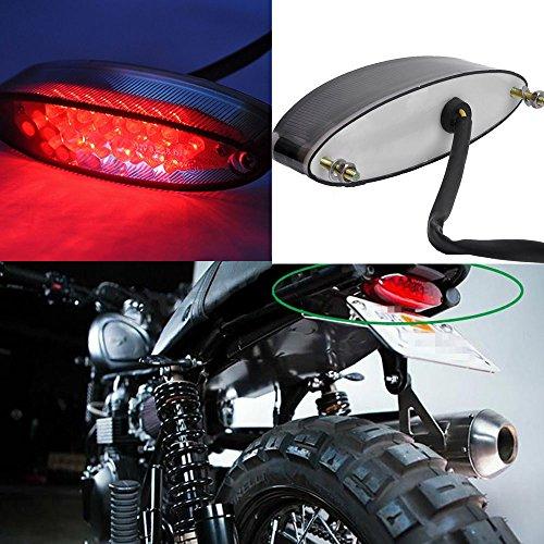Moto 28 LED Fanale Posteriore Luce del Freno Luce Targa Universale per Cruiser ATV-Rosso