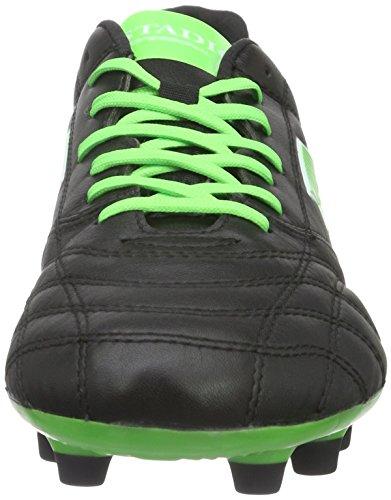 Lotto Stadio 100 Fg, Chaussures De Soccer Intérieur Pour Hommes (blk / Mint Fl)