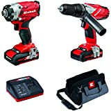 Einhell 4257201 Power X-Change Combi and Impact Driver Twin Pack - Red