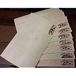 Grillschmecker Buchen Grill Wraps, Wood Wraps Grillfunier, Wood Paper 8 Stück