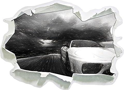 Ferrari argent XXL énormes Photos complètement encadrées avec imprimé Art civière sur murale avec cadre moins cher que des peintures ou à Bestseller Pas d'affiches ou de papier d'affiche 3D taille de sticker mural: 92x67 cm décoration murale 3D Stickers muraux Stickers