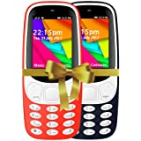 IKALL 2.4 Inch Display Dual Sim Mobile Combo - K35 (Red & Dark Blue)