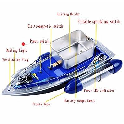 Bait Runner Fishing Remote Control Boat Carp Coarse 5200mAh from YRFS
