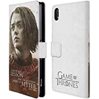 Official HBO Game Of Thrones Arya Stark Character Portraits Leather Book Wallet Case Cover For Sony Xperia Z2