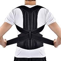 Correcteur de Posture, HailiCare Ceinture Maintien de Dos Réglable et Confortable Support de Dos et l'épaule Soulager Douleur de Dos pour Hommes et Femmes (L 34-42'')