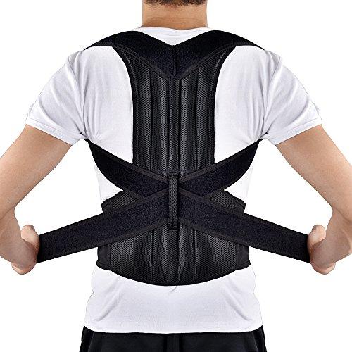 HailiCare Corrector de Postura para Espalda Transpirable y ajustable Soporte de Espalda para Corregir Postura Hombros y Espalda y Alivio del Dolor Mujer y Hombre (L 34'' - 42'')